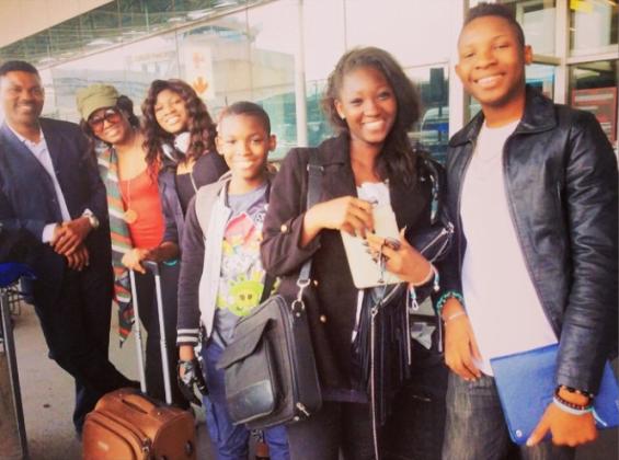 Omotola's husband Captain Mathew Omotola and her four kids - PHOTOS: Actress Omotola Shares Photos Of Her Beautiful Family