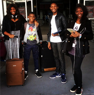 Omotola and kids - PHOTOS: Actress Omotola Shares Photos Of Her Beautiful Family