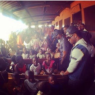 Psquare brothers visited an orphanage to donate 3322C000 in Naira - Psquare, Davido donates to Orphanages in Cameroon, Ivory Coast