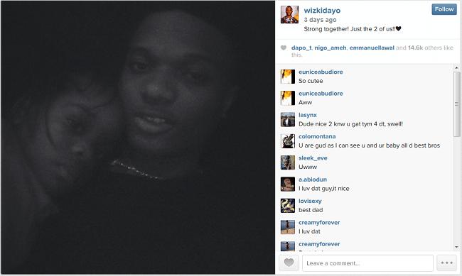 wizkidsharesphotoofson - Wizkid shares photo of his Son on instagram