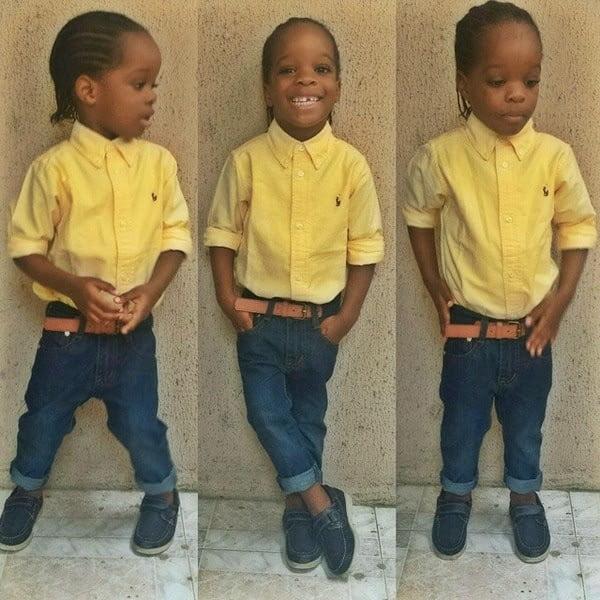 wizkidsson2 - Wizkid shares photo of his Son on instagram