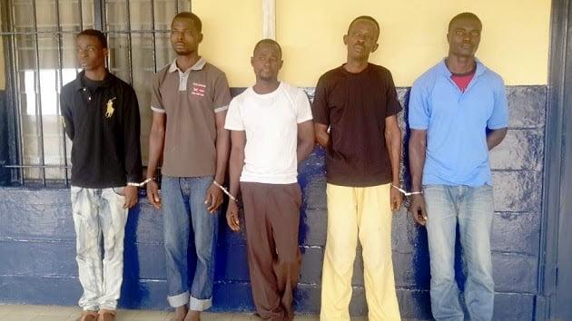 PadyHandsonStephenSandoWilliamGbekuAlexDonkorandKennedyGbonmintahgrabfivehardenedcriminals2 - five Member armed robbery gang nabbed, Accra- Ghana