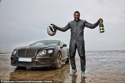 Idris Elba Breaks 88 year old UK Driving record.. In a $270,000 Bentley