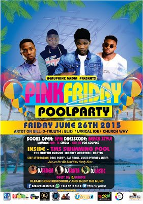 PINKFRIDAYS POOL PARTY TOUR 26th June, 2015