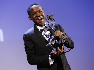 """Abraham Attah living the Hollywood life checkout """"Beasts of No Nation"""" Festival Tour with Idris Elba"""