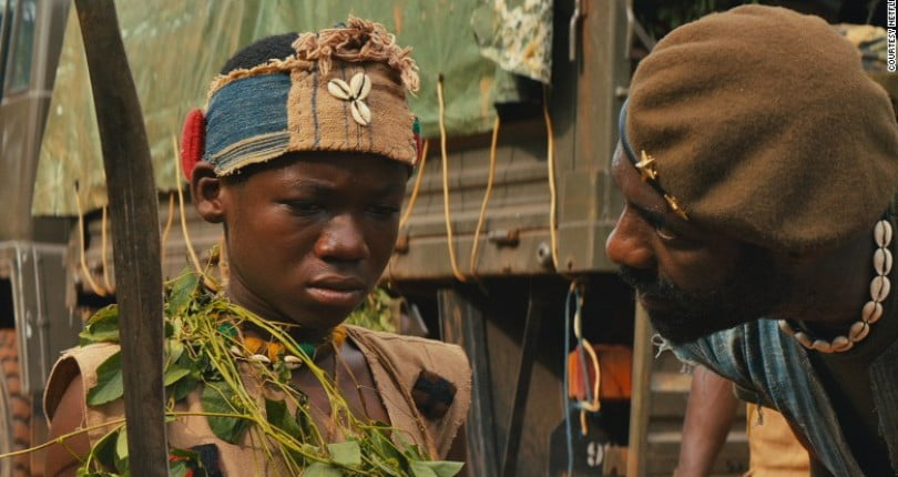 "BeastsofNoNationmovie - Abraham Attah living the Hollywood life checkout ""Beasts of No Nation"" Festival Tour with Idris Elba"