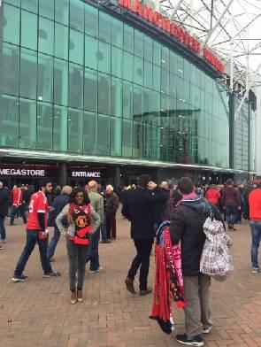Nana Aba finally spotted at Old Trafford