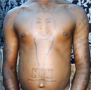 davido1 - Photos: Davido Finally Meets Crazy Fan Who Tattooed Music Star's Face On His Chest