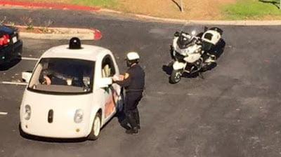 Googlecarstoppedbypoliceforbeingtooslow - Google car stopped by police for being too slow