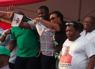 "Top actor John Dumelo and others spotted at NDC ""RALLY"""