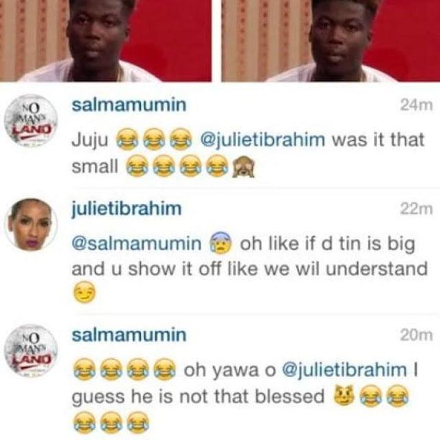 Juliet Ibrahim & Salma Mumin Mocks Wisa *if the tin is big like we wil understand