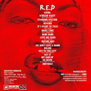 "Tiwa Savage - ""R.E.D"" Album 2015 Tracklist"