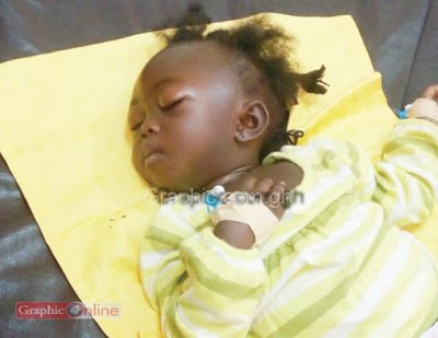 Cute little girl survives ''Kintampo accident'' Help identify survivor SHARE