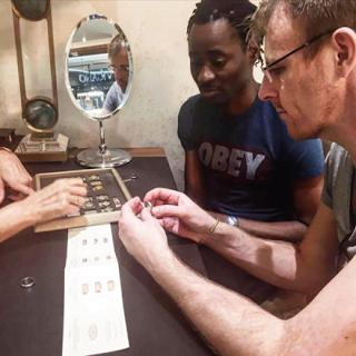 PhotosBisiAlimiandhispartnershopforweddingrings - Photos: Nigerian gay activist 'Bisi Alimi' and his partner shop for wedding rings