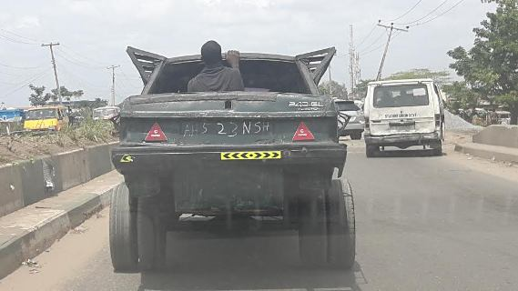 Photos: LoL 'Mad Max Fury Road' car spotted in Nigeria