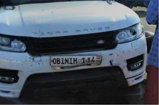 Obinim's Range Rover involved in accident