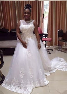 Photos: Moesha Boduong Rocking her Wedding Gown