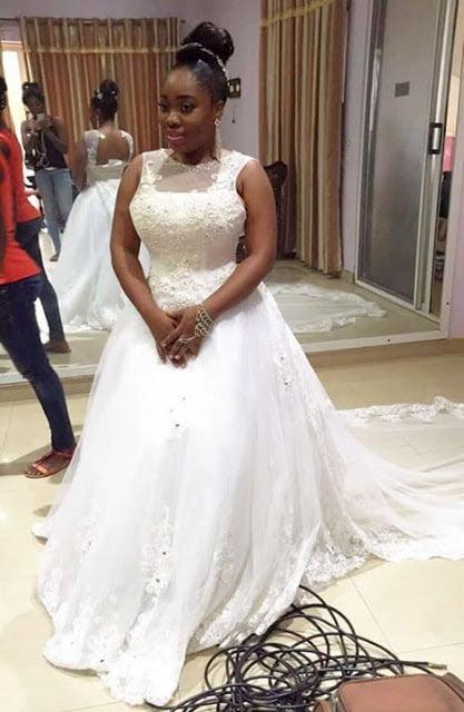 PhotosMoeshaBoduonginherWeddingGown5 - Photos: Moesha Boduong Rocking her Wedding Gown