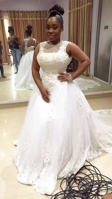 PhotosMoeshaBoduonginherWeddingGown6 - Photos: Moesha Boduong Rocking her Wedding Gown