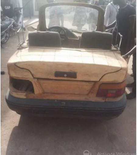 PhotosNigerianbuild27scarwithpiecesofwoodandmotorcycleengine2 - Photos: Nigerian build's car with pieces of wood and motorcycle engine