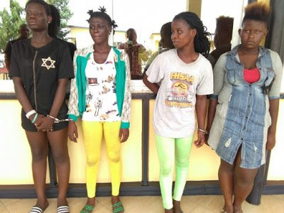 SuspectedAll FemalearmedrobberyGangBustedinKumasi - Girls Abr3 Female armed robbery Gang Busted in Kumasi