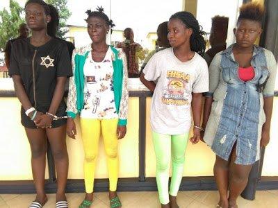 SuspectedAll FemalearmedrobberyGangBustedinKumasi - Girls Abr3 Female armed robbery Gang Busted in Kumasi