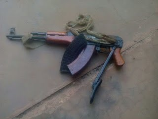 The AK47 rifle which was retrieved from the deceased28129 - Robber killed in shoot-out with police | News Ghana
