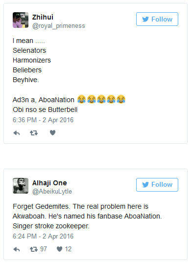 FireShotScreenCapture23091 2723AboaNation TwitterreactstoAkwaboah27s2 - Akwaboah to name Fan-Army #AboaNation, Cool or Nah? check out what others are saying