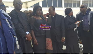 Remains of the late veteran actor Nii Odoi Mensah arrives in Ghana (Photos)