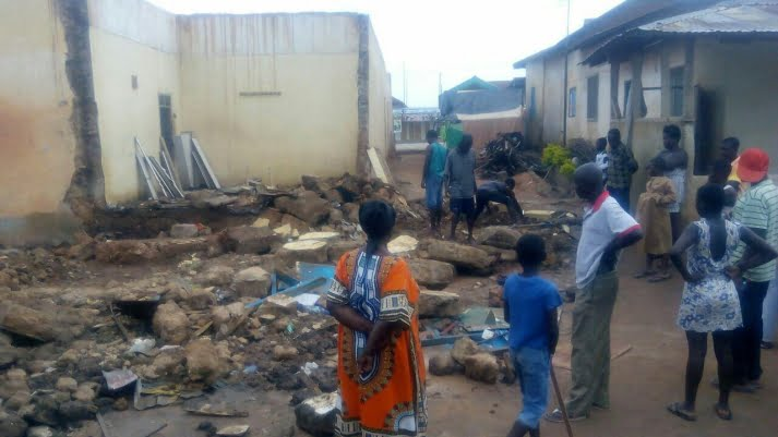 Old Palace collapses at Essreso in the Bosomtwe, 2 dies