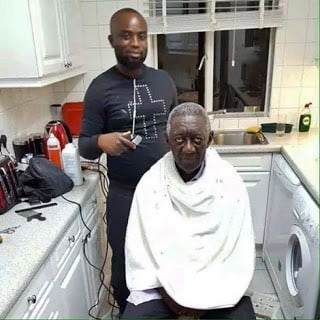 See Where Ex-Prez Kufuor Gets His Haircut...