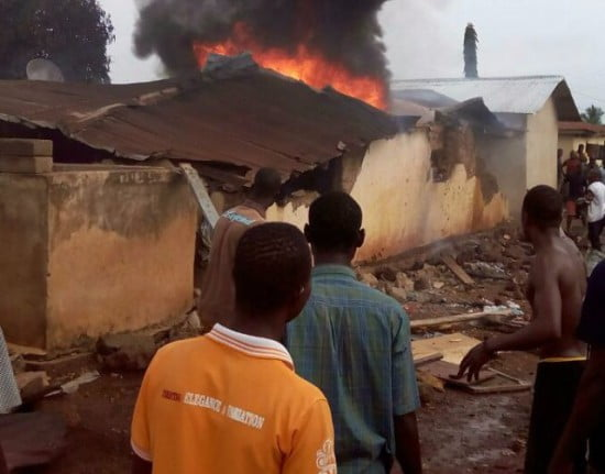 3ChildrenburnttodeathinNkwantafire - 3 Children burnt to death in Nkwanta fire