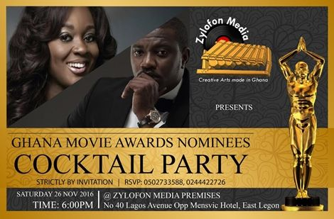 Zylofon Media To Host Ghana Movie Awards 2016 Nominees Party+ Final List of Nominees