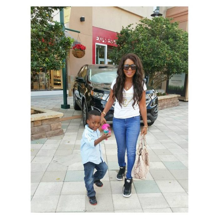 mzbel and son - Mzbel shows off her 'man'